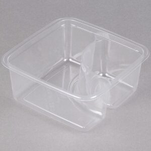 2 Compartment Clear PLA Container