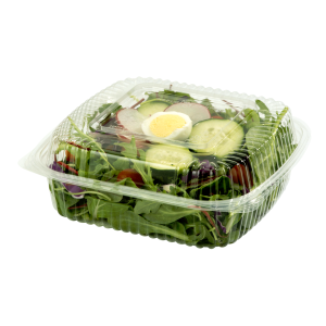 Large Hinged Clear Clamshell Filled with Salad