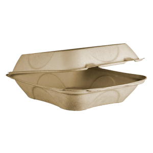Small Hinged Fiber Container Clamshell