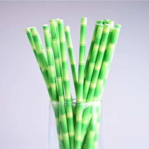 3 ply Green Bamboo Paper Straws