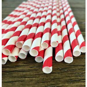 4-ply Giant jumbo paper red stripe Straws